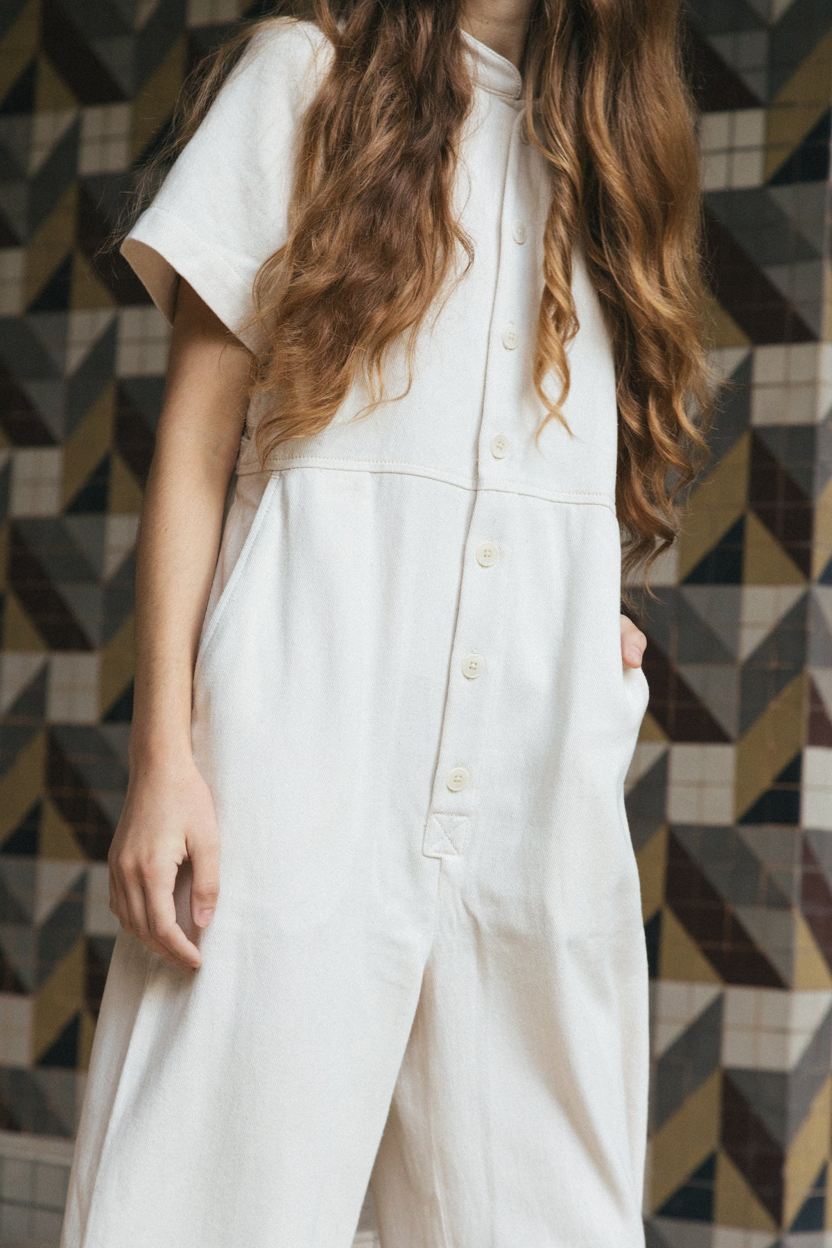 Joanna Jumpsuit Natural grid image