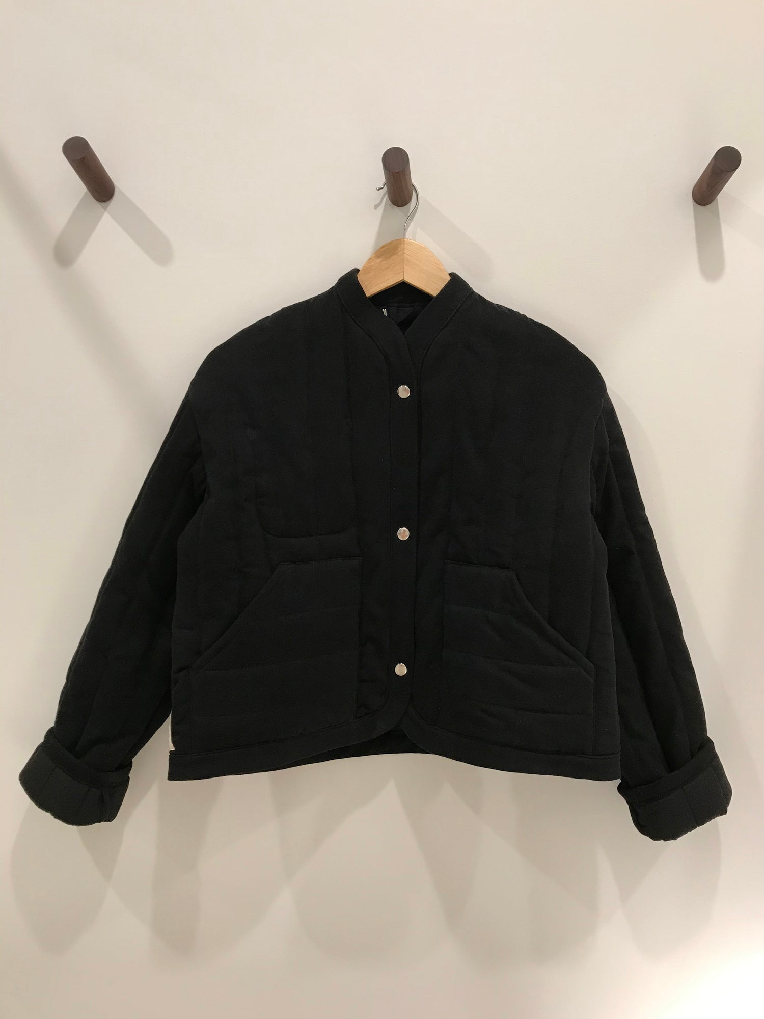 Reversible Quilted Jacket Black grid image