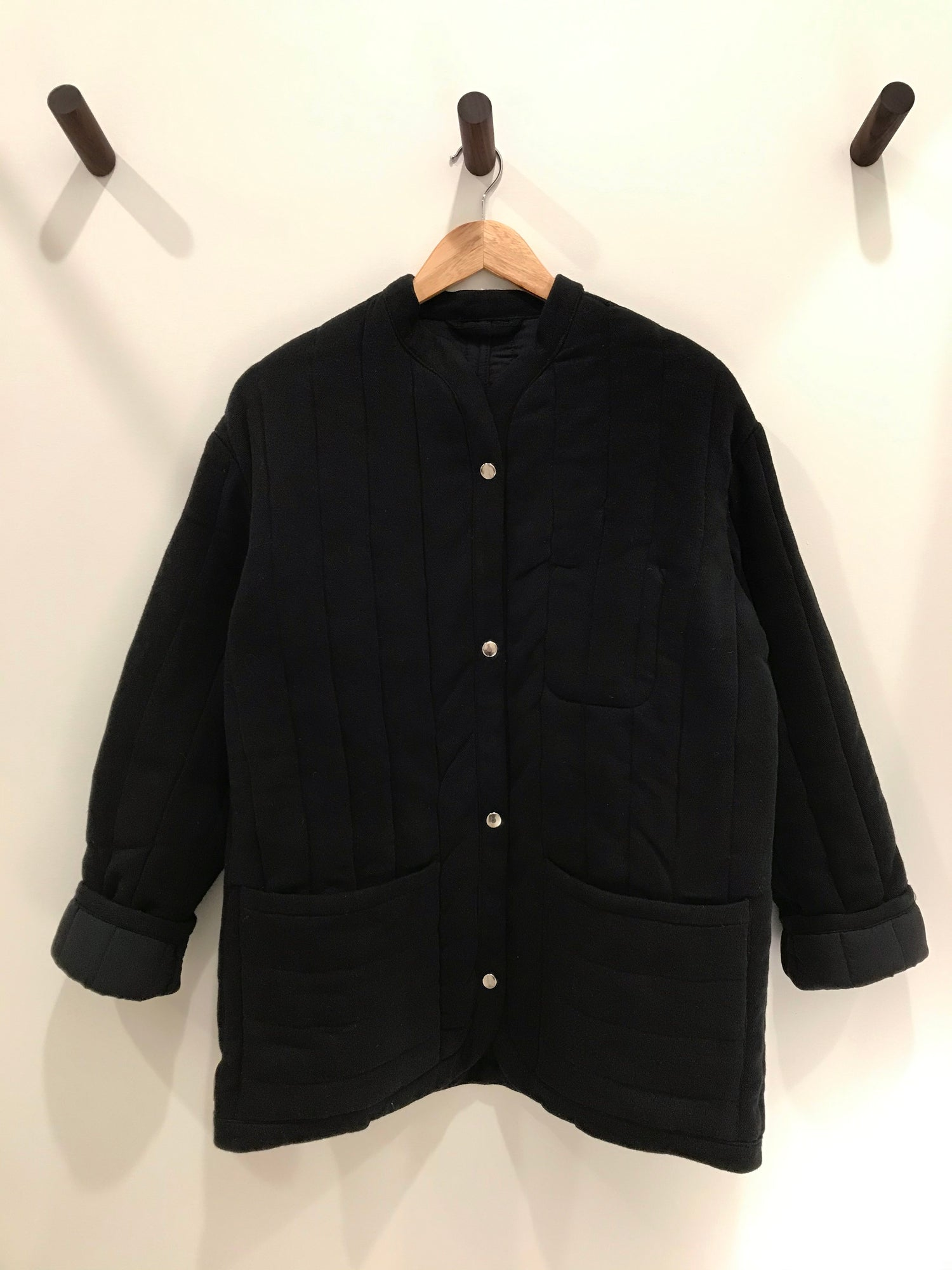 Sawyer Quilted Jacket Black grid image