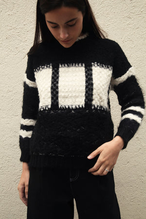 Hyde Sweater Black/Cream
