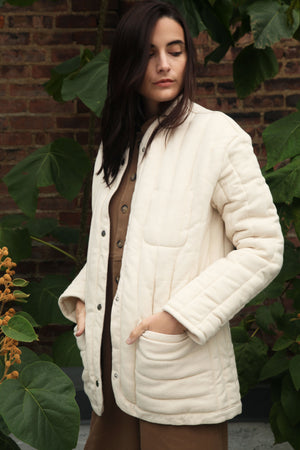 Sawyer Quilted Jacket Natural