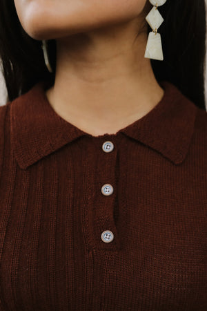 Laura Collared Sweater Hickory