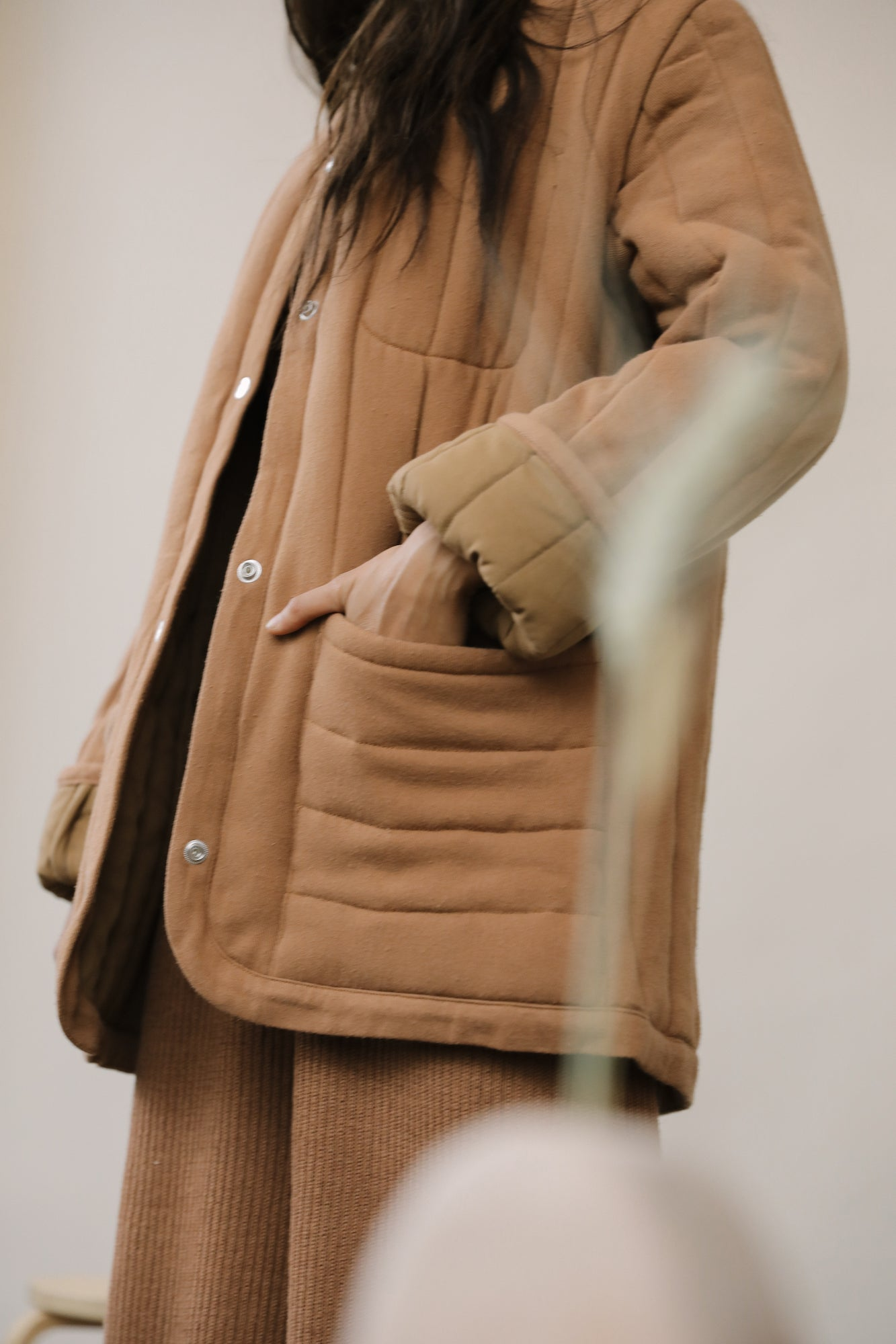 Sawyer Quilted Jacket Clay grid image
