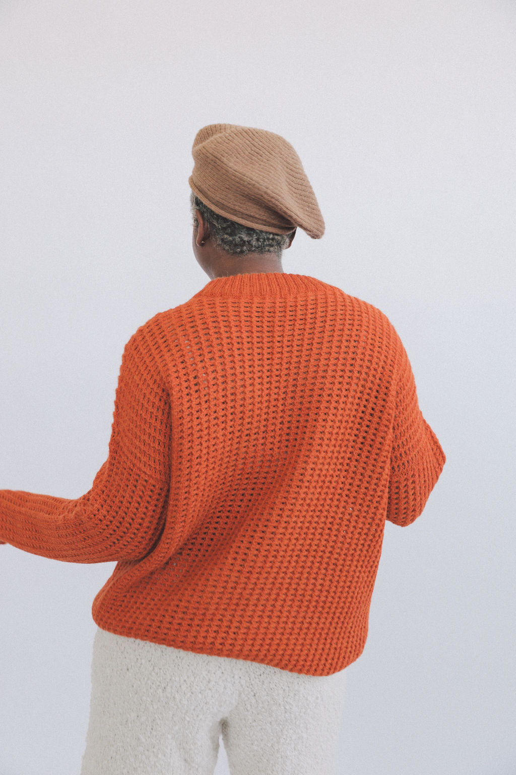 Kei Sweater Clementine grid image
