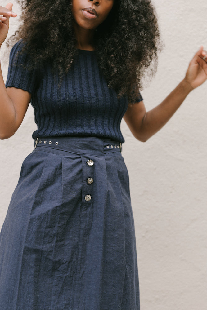 ELLIS SKIRT INDIGO