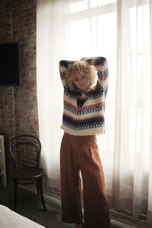 FAIRISLE SWEATER CREAM MULTI