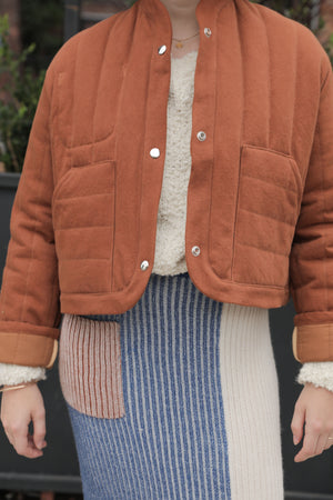 REVERSIBLE QUILTED JACKET CLOVE