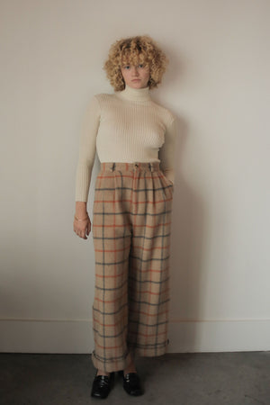 ALMA TROUSER WOOL PLAID