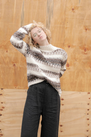 FAIRISLE SWEATER BROWN MULTI