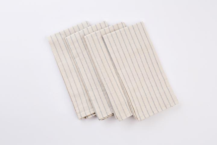 Meema Napkins, Set of 4 Natural grid image