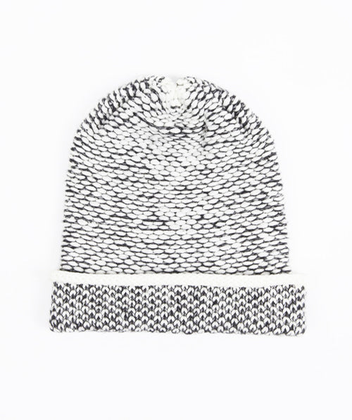 SEED STITCH HAT CREAM/DK GREY grid image