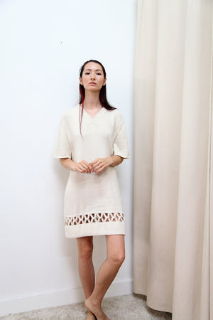 INTERLOCK DRESS CREAM