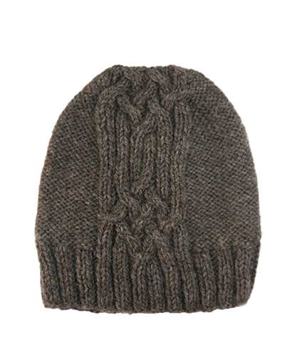 CABLE KNIT HAT FOG GREY grid image