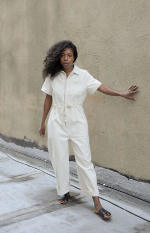 UTILITY JUMPSUIT NATURAL