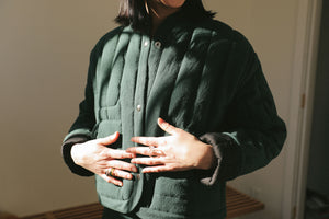 REVERSIBLE QUILTED JACKET GARNET