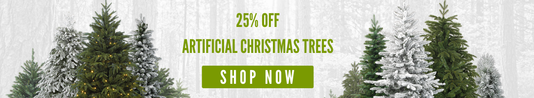 25% Off Artificial Christmas Trees