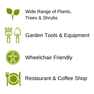 Wide Range of Plants Trees & Shrubs, Wheelchair Friendly, Alcohol License, Daily Specials Chacewater Garden Centre