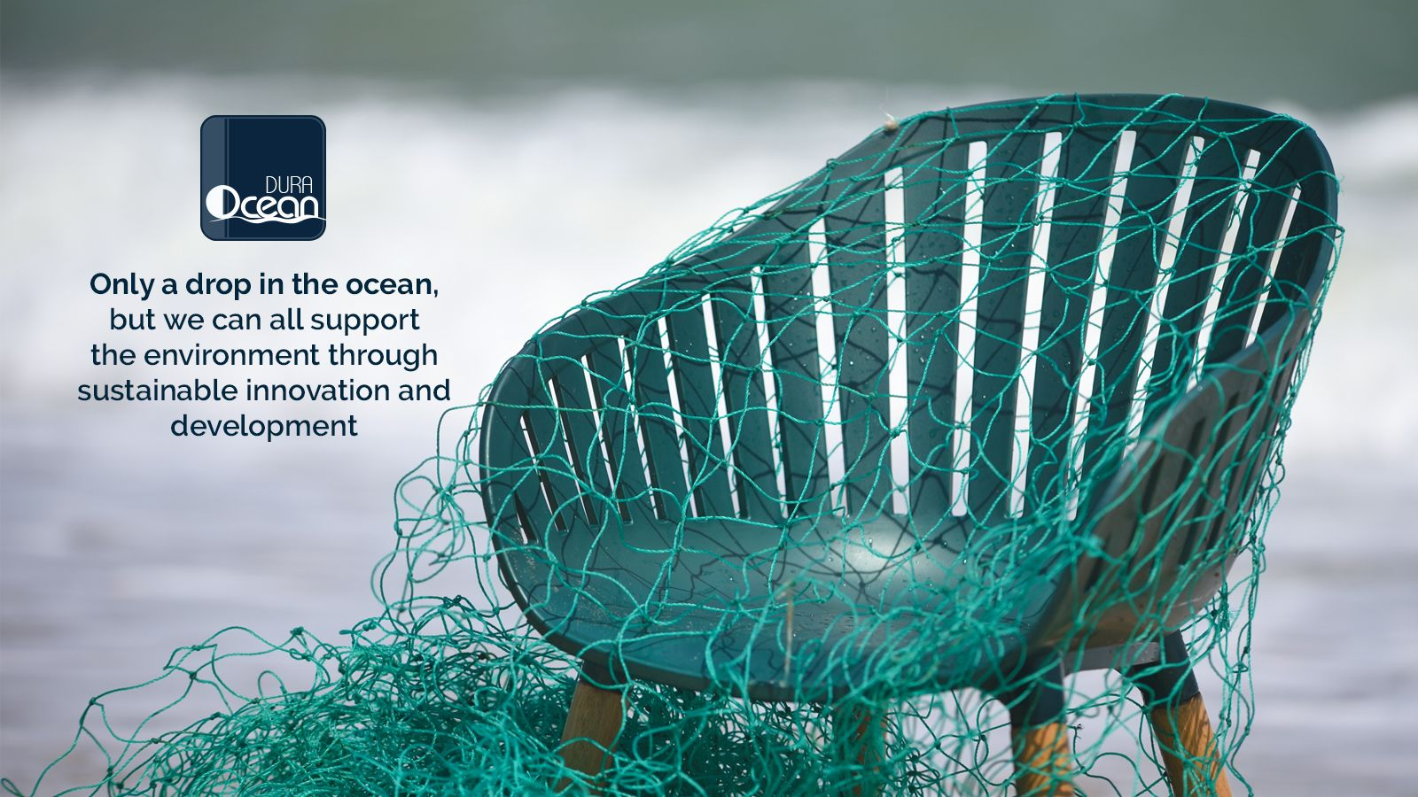 LifestyleGarden DuraOcean Environmentally Friendly Recycled Plastic Fishing Nets Chair Technology