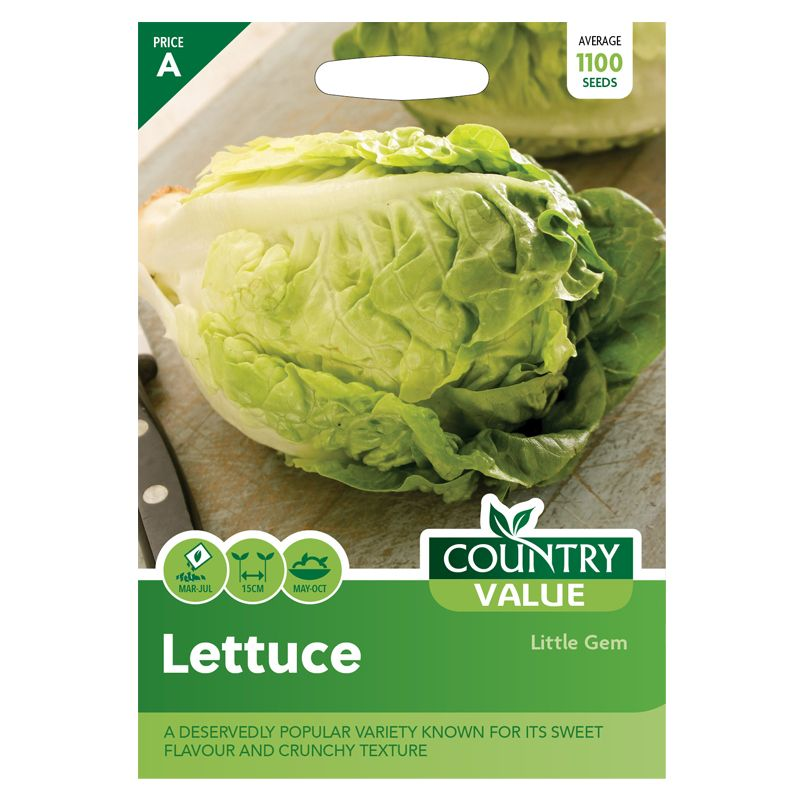 Lettuce Little Gem Seeds Country Value