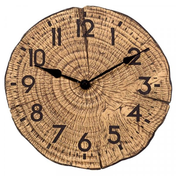 Wall Clock Tree Time 12in