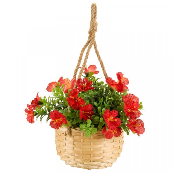 Artificial Hanging Basket Blossom Bouquet - 3 Assorted, 1 Supplied