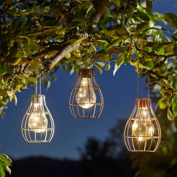 Eureka! Solar Powered Firefly Lantern - Silver, Gold & Copper
