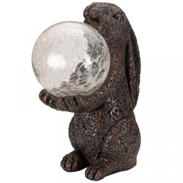Solar Ornament Magic Hare with Colour Changing Crackle Ball