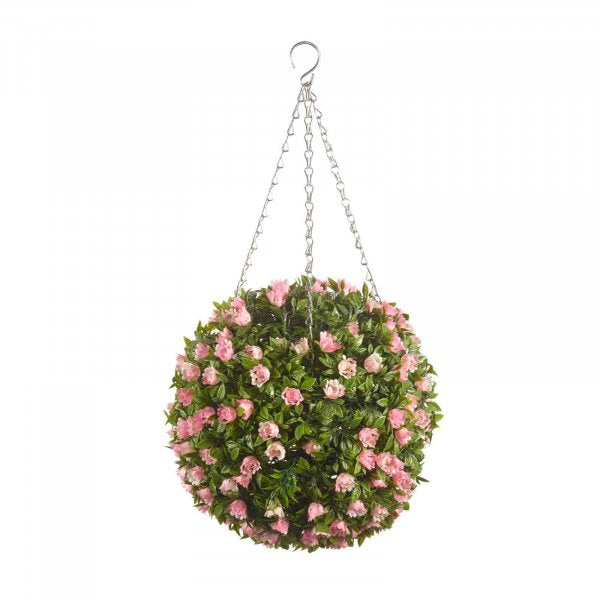 Artificial Topiary Ball Pink Rose 30cm