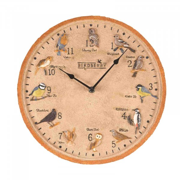 Wall Clock Birdberry 12in