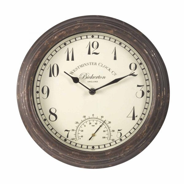Bickerton Wall Clock & Thermometer 12in