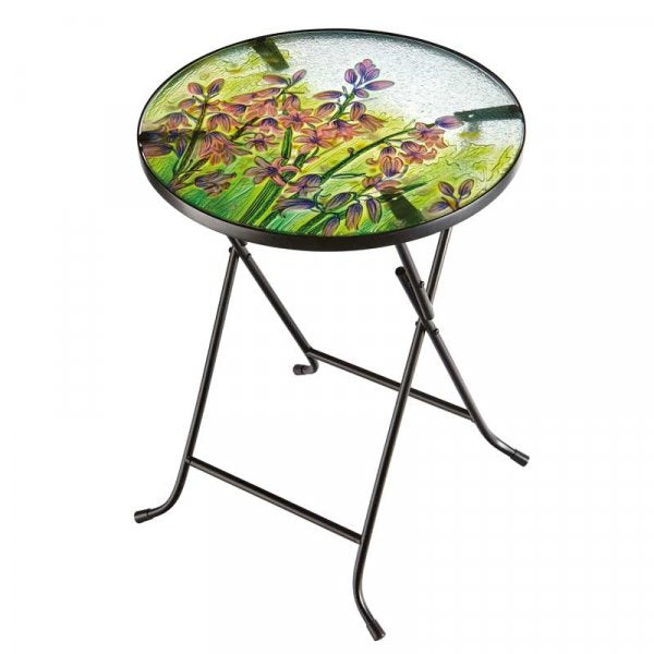Table Glass Top Bluebell 45cm Diameter