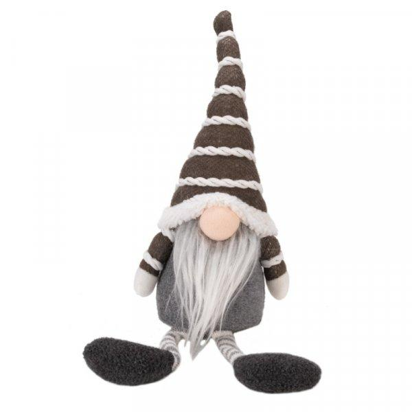 Buy Smart Garden Grey Seated Gonkert Christmas Plush Decoration - Cornwall Garden Shop