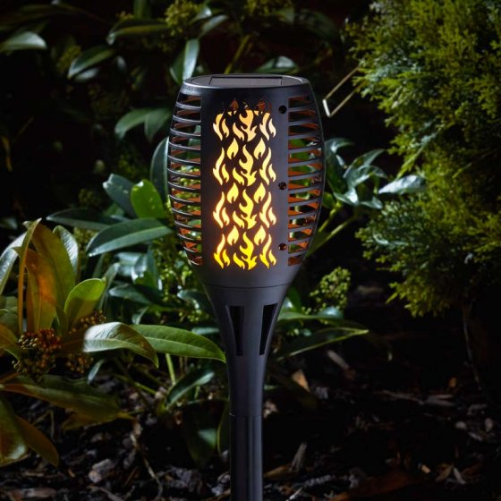 Solar Stake Light Cool Flame Compact Torch