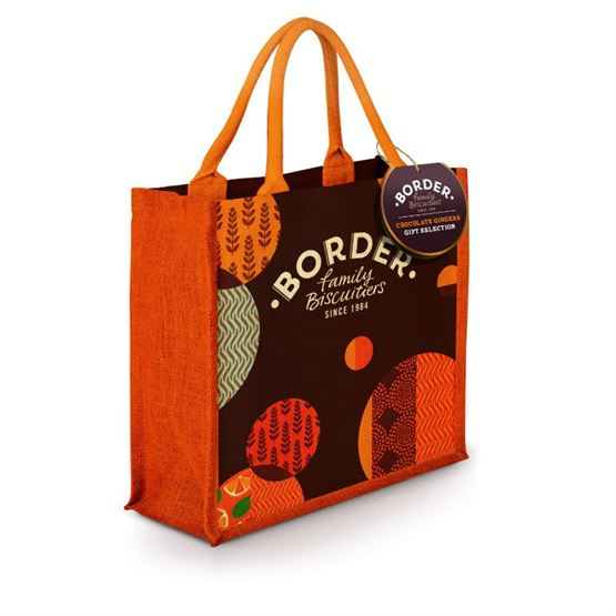 Milk & Dark Chocolate Gingers Gift Selection Jute Bag Border Biscuits 700g