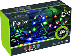 Festive String 480 LED Lights - Multi