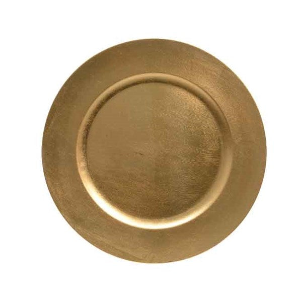 Kaemingk Plastic Decorative Plate - Gold