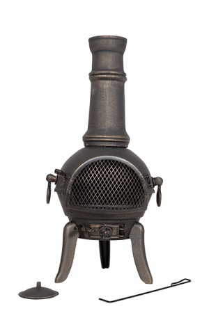 Chimenea Sierra Bronze Extra Large with Grill