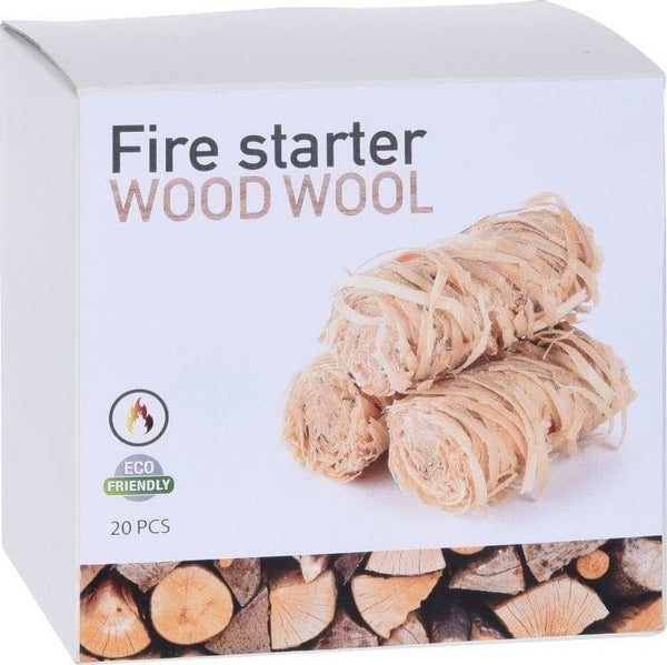 Wood Wool Fire Starters Pack of 20 Pieces