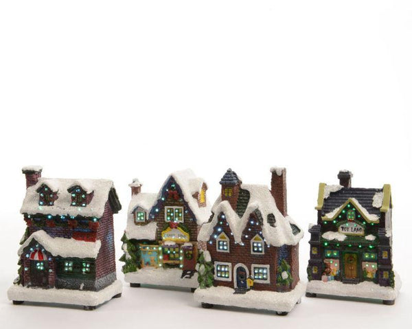 Buy Kaemingk LED Fibre Optic Winter House - 4 Colours Assorted - Cornwall Garden Shop