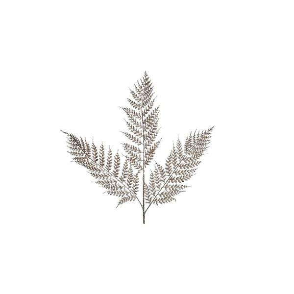 Buy Kaemingk Fern Christmas Spray w Glitter - Cornwall Garden Shop