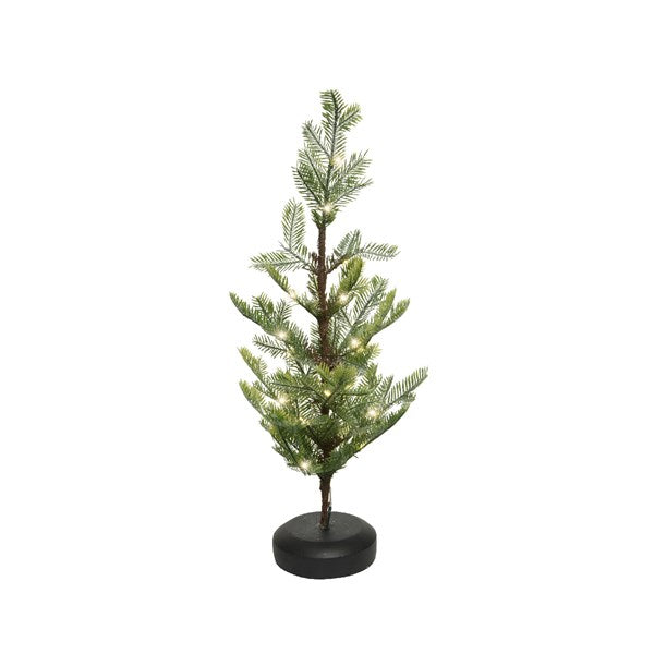 Kaemingk Frosted Mini Christmas Tree With Pre Lit Battery Operated LED's