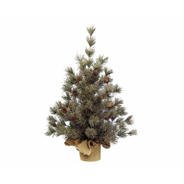 Buy Frosted Mini Tree with Pinecones - Cornwall Garden Shop