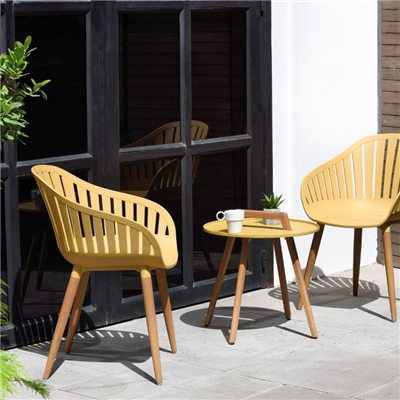 Lifestyle Garden Nassau Coffee Bistro Set - Mustard, 2 Seater
