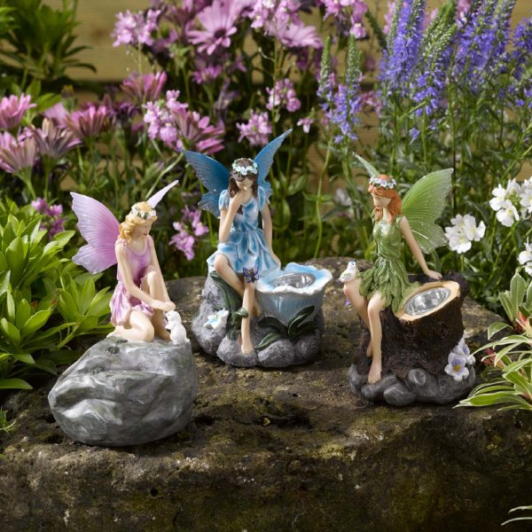 Fairy Spots Individual Solar Lights - Choice of Blue, Green or Pink