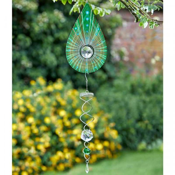 Spinning Double Helix Green 41cm