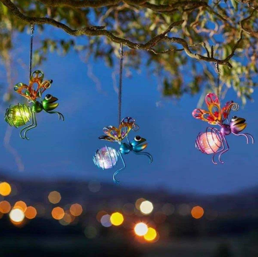 Solar Hanging Bug Lights - 3 Assorted, 1 Supplied