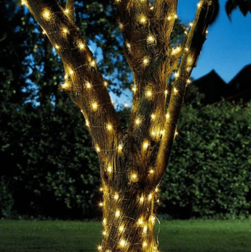 100 Warm White Firefly String Lights Solar Powered LED - Cornwall Garden Shop