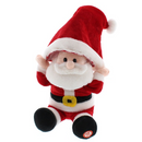 Festive Animated Santa Wearing Hat 29cm