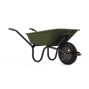 Wheelbarrow Green Polypro with Pneumatic Wheel 90L