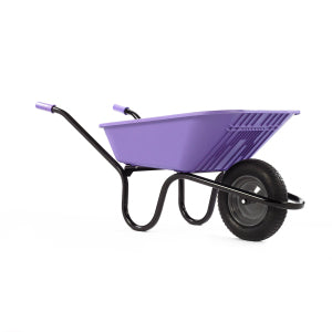Wheelbarrow Lilac Polypro with Pneumatic Wheel 90L